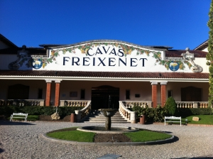 The beautiful entrance to Freixenet in Sant Sadurni