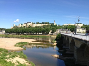 The beautiful town of Chinon
